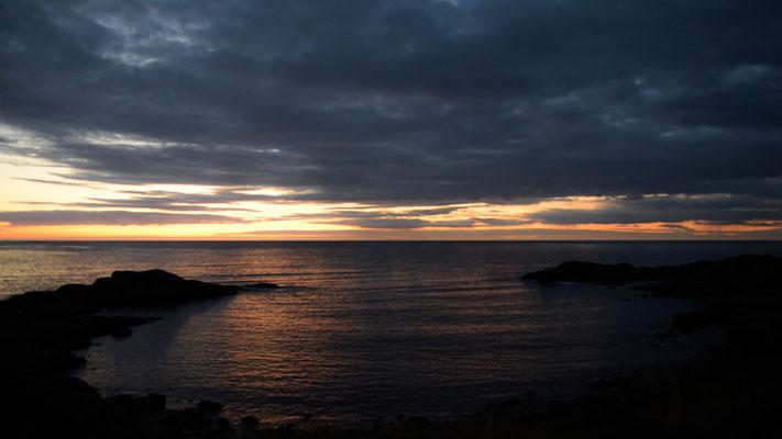 Sunset on Runde island