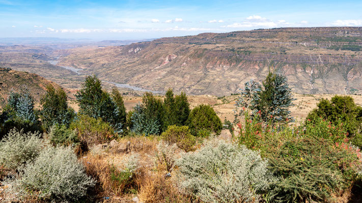 Falaises de la vallée de Jemma depuis Debre Lebanos