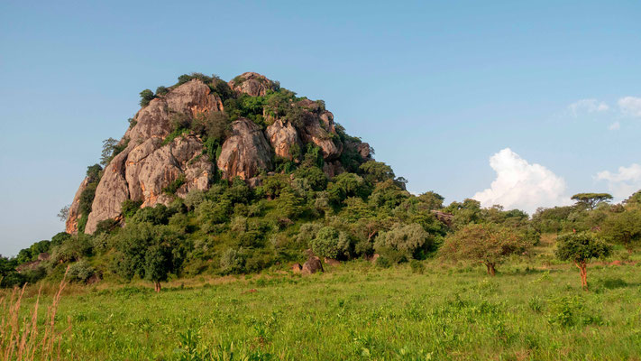 Landscape on the road to Kidepo valley