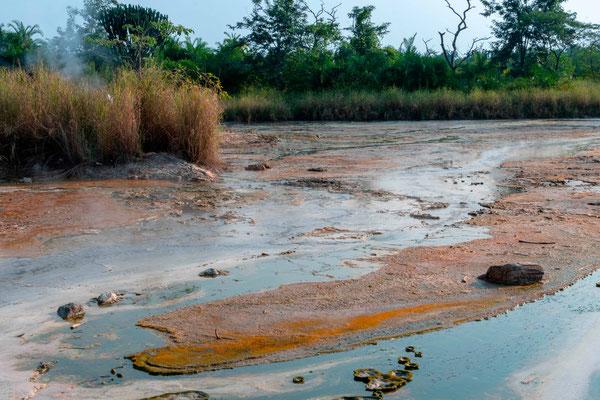 Les sources d'eau chaude.