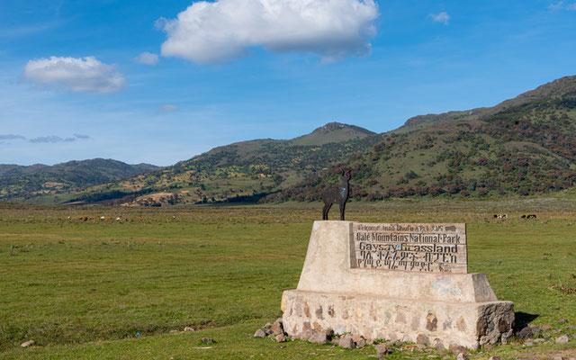 Une des entrées du Parc national des montagnes de Bale.