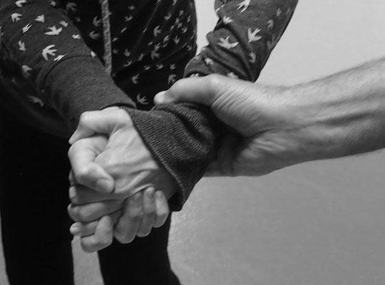 Ju-Jitsu - Impressionen aus dem Kurs - Handgelenkangriff