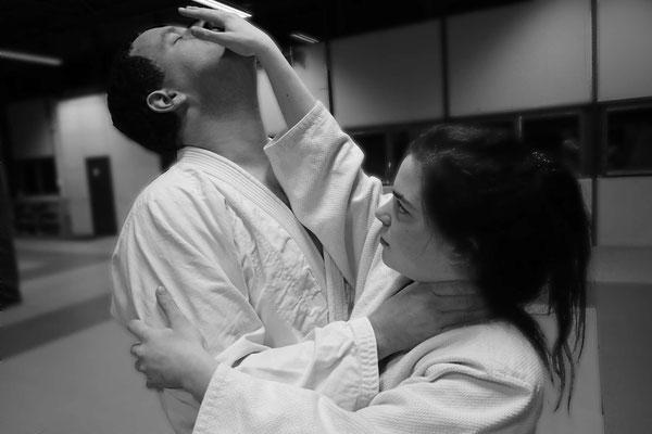 Ju-Jitsu - Impressionen aus dem Training - Abwehr mit Nasengriff