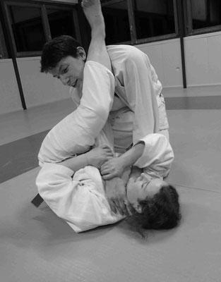 Ju-Jitsu - Impressionen aus dem Training - Würgeangriff am Boden