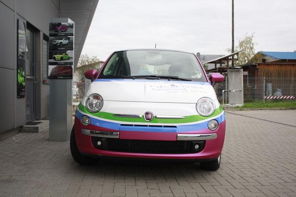 Fahrzeugwerbung Kids@Home Fiat500 Carwrapping