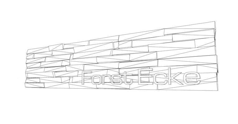 Echtholz Multilayerschild mit gefrästen Buchstaben