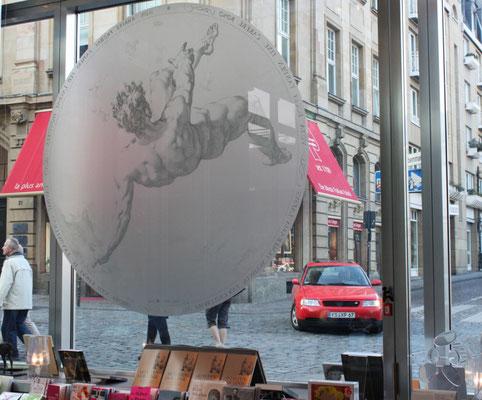 Glasdekor Frosted Ice Etched Glas Sichtschutzfolie StyleWerk Werbetechnik