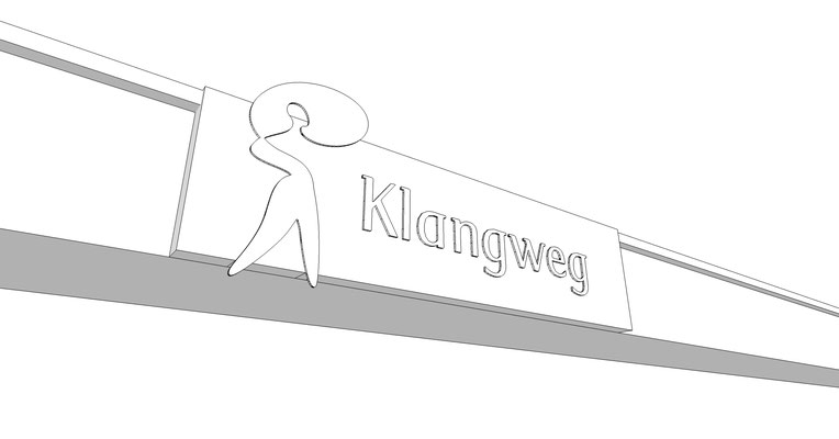 Signbox gekantetes Dibond Schild 3D Schild Werbekasten StyleWerk Werbetechnik