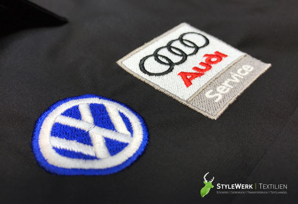 Hemd bestickt besticken lassen StyleWerk Werbetechnik Volkswagen Audi Audiservice