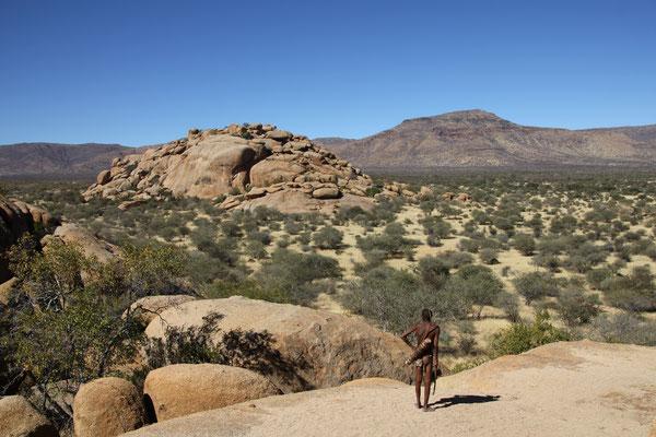 2014 Namibia - Erongo-Gebirge, auf dem Bushmen walk mit Andreas