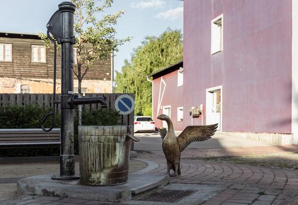 Gänsebrunnen in der Ueckermünder Bergstraße