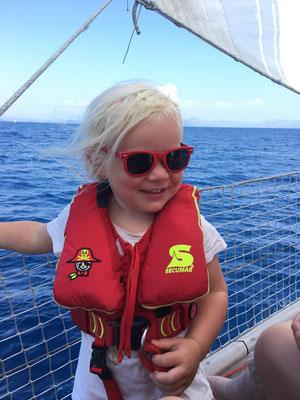 Emily unsere kleinste Seglerin
