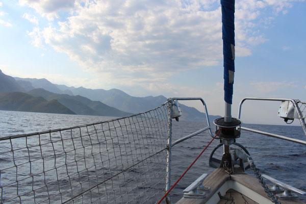 Fahrt zu dem Kap Malea