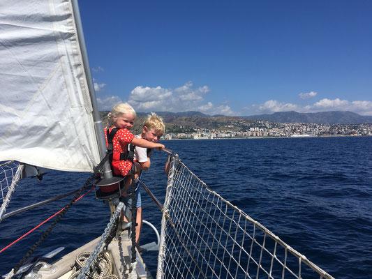 Einfahrt nach Reggio Calabria - Lieblingsplatz der Kinder