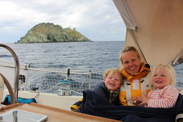 Am nördlichsten Punkt Korsikas - so langsam kommt doch Wind auf