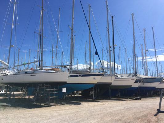 Bootsparkplatz in der Cleopatra Marina in Preveza