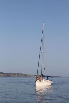 Die Yacht ELBA mit unseren neuen Freunden
