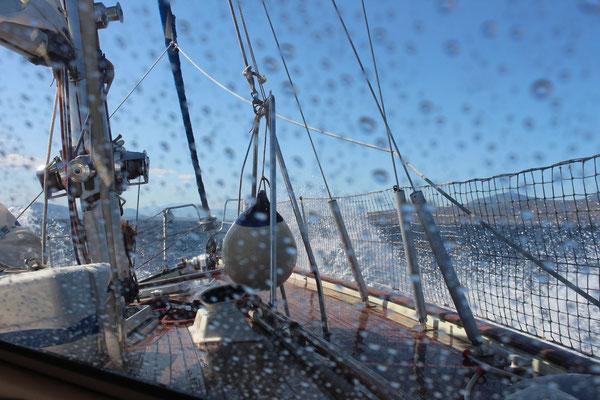 Ordentlich Wind auf dem Weg zum Corinth Kanal