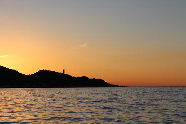 Sonnenuntergang bei Saint Florent