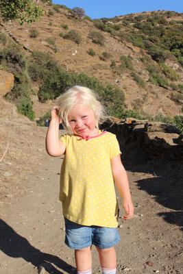 Emily auf dem Weg zum Ancient Lion