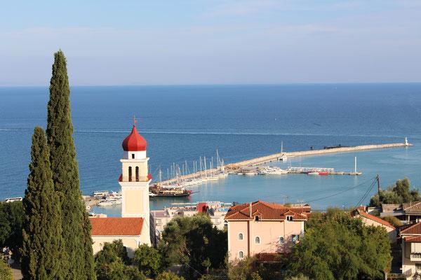 Blick auf den Hafen von Zante auf Zakynthos