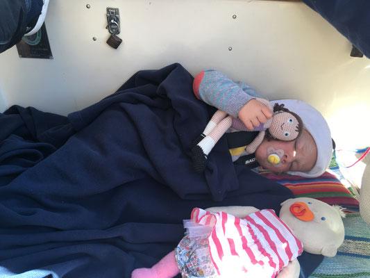 Kleiner Mittagsschlaf im Cockpit
