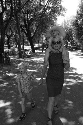 Spaziergang durch den Park der Villa Borghese