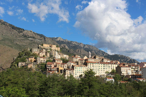 Blick auf die Altstadt von Corte