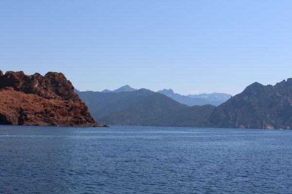 Blick in die Bucht von Girolata