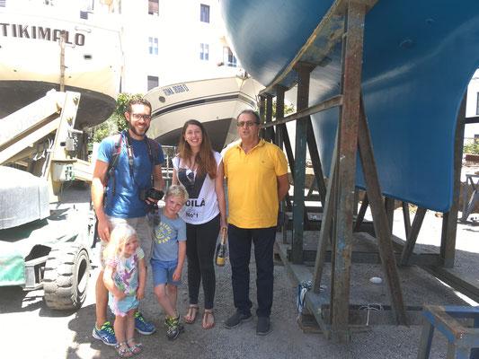 Paola und Nino und unser neues Unterwasserschiff