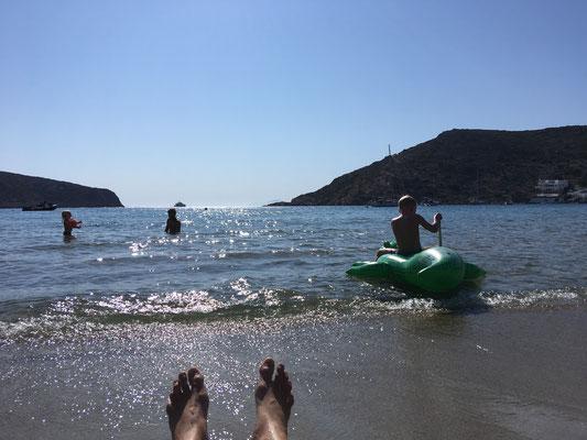Herrlicher Sandstrand auf Siphnos