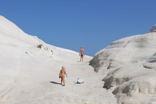Kreideküste auf der Insel Milos