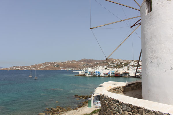 Alia vor Mykonos City mit Little Venice