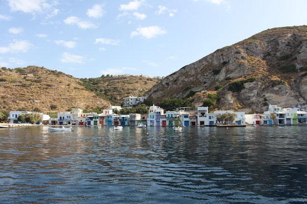 Die Fischerhütten von Klima auf Milos