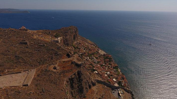 Drohnenfoto von Monemvasia