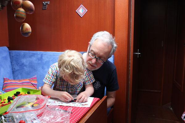 Besuch von Oma Hanni und Opa Detlef