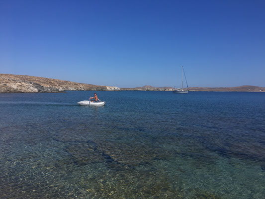 Einsame Bucht auf der Insel Rinnen