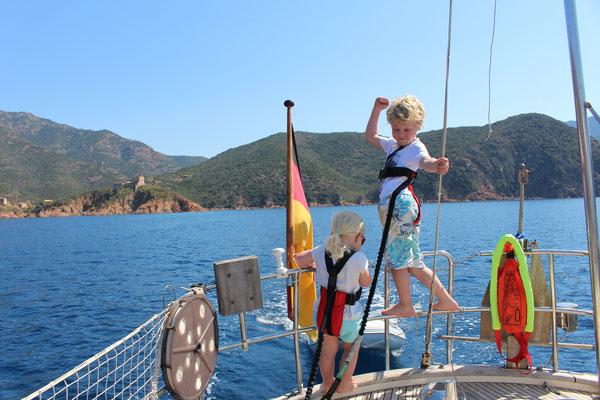 Fahrt aus der Bucht von Girolata