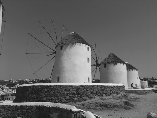 Windmühlen in Mykonos