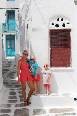 Unterwegs in der Altstadt von Mykonos