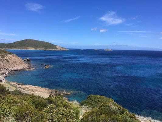 Blick nach Norden auf das Cap Corse