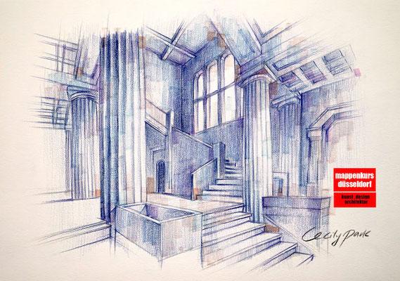 Mappenkurs Architektur, Architekturstudium, Architektur zeichnen, Mappenkurs Düsseldorf