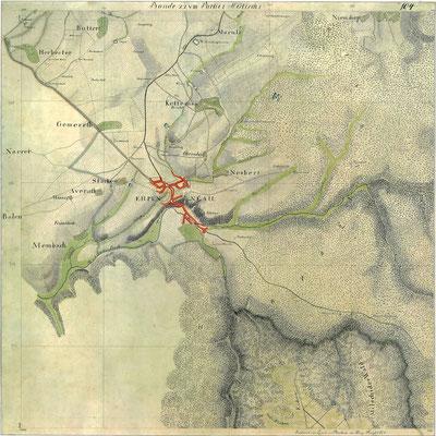 Karte von Eupen - 1803