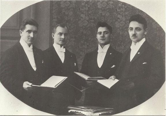 Das Eupener Solo-Quartett im Jahre 1930. Von links: Johann Heinrichs, Winners, Nikolaus Barth und Mathieu Buchem.
