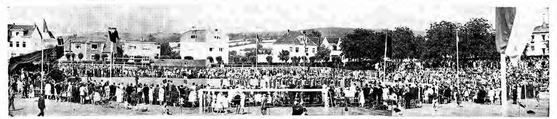 27.06.1965 anlässlich des 80 Jahre Kgl. Militärsport-Institut: Glanzvolles Sportfest vor mehr als 2000 begeisterten Zuschauern