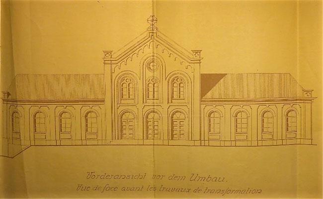 Bauplan der Kinderbewahranstalt an der Borngasse aus dem Jahr 1898.