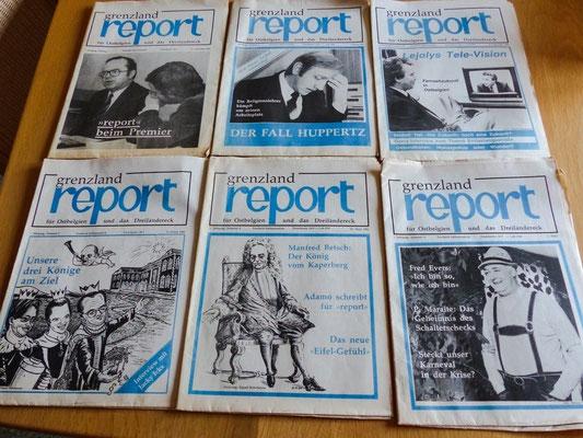 """Einige Ausgaben aus der Anfangszeit des """"Grenzland-Report"""""""