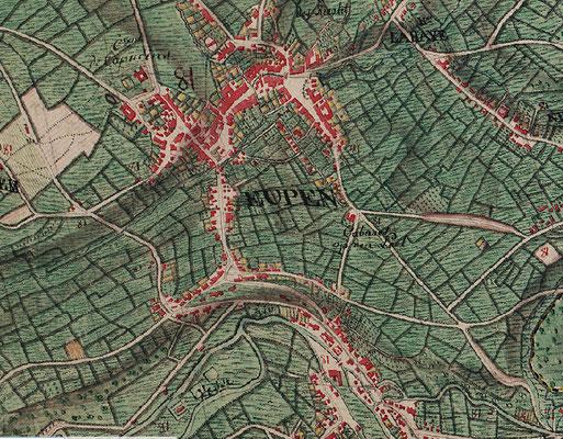 Karte von Eupen - 1777