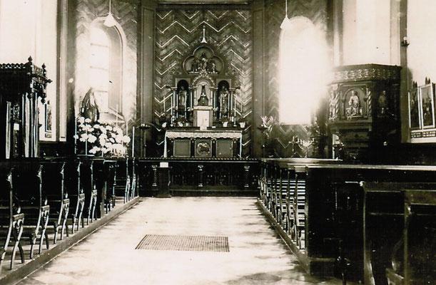 Die Kapelle vor der Renovierung von 1961