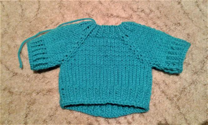 Pullover für ein Plüschkaninchen, Eigenkreation